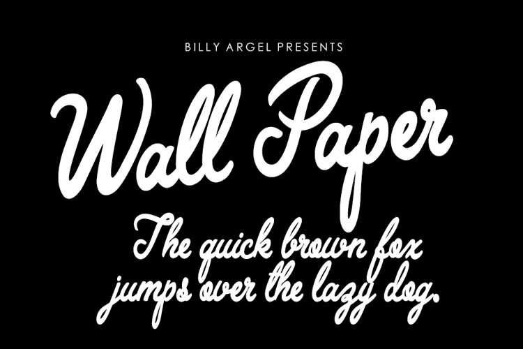Wall Paper Font