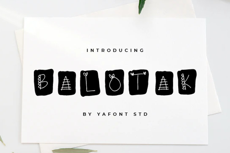 BALOTAK Font