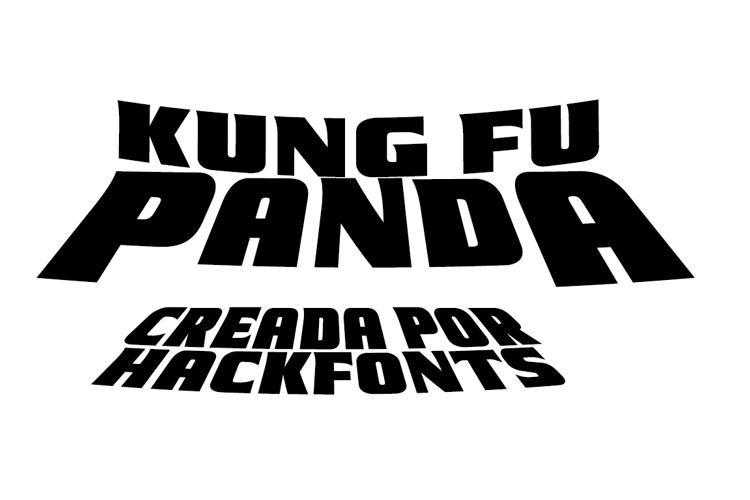 Kung Fu Panda Font