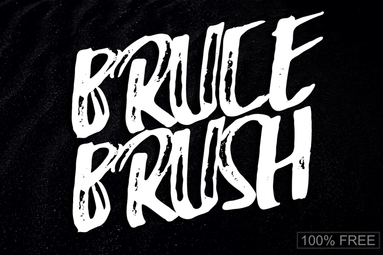 Bruce Brush Font