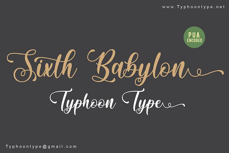 Sixth Babylon Font