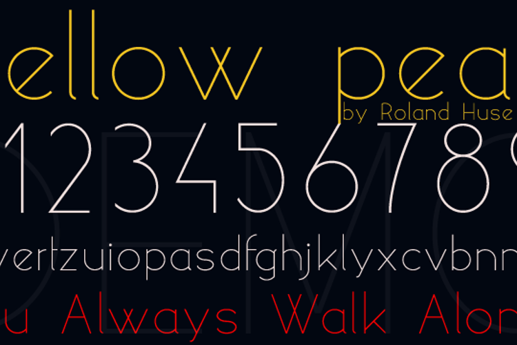 yellow peas demo Font