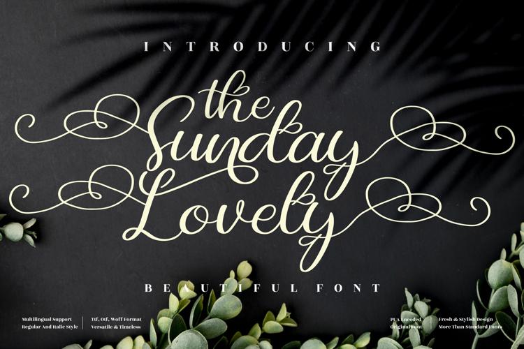 The Sunday Lovely Font