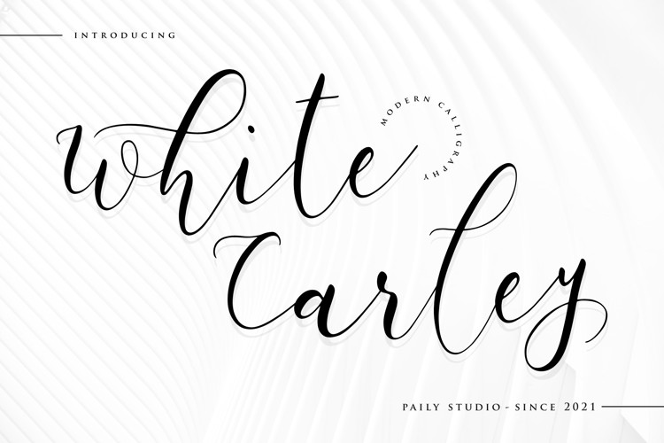 White Carley Font