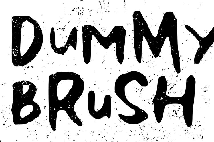 Dummy Brush Font