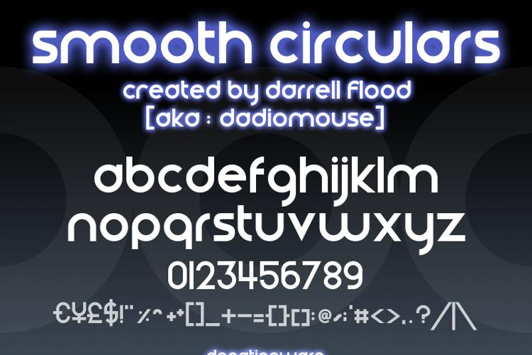 Smooth Circulars Font