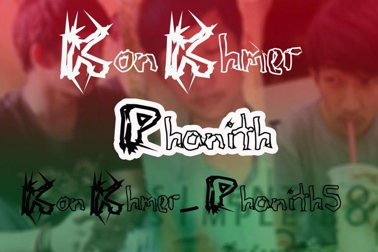 KonKhmer_S-Phanith5 Font
