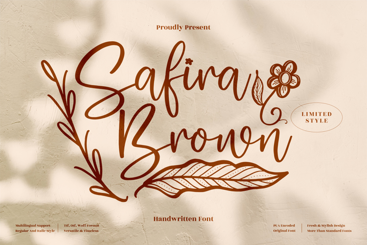 Safira Brown Font