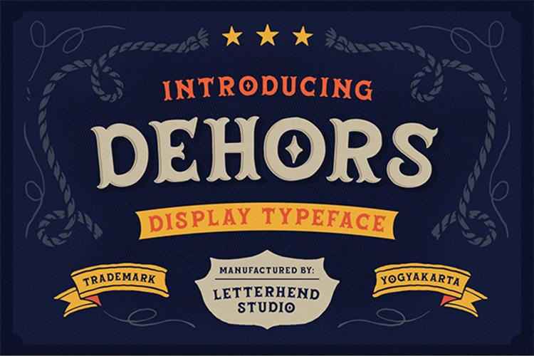 Dehors Display Font