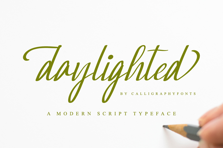 Daylighted Font