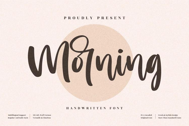 Morning Font