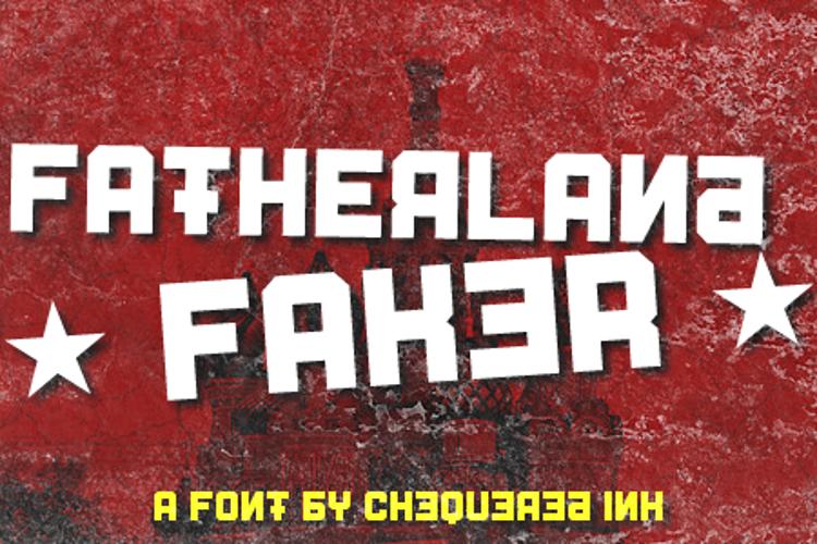 Fatherland Faker Font