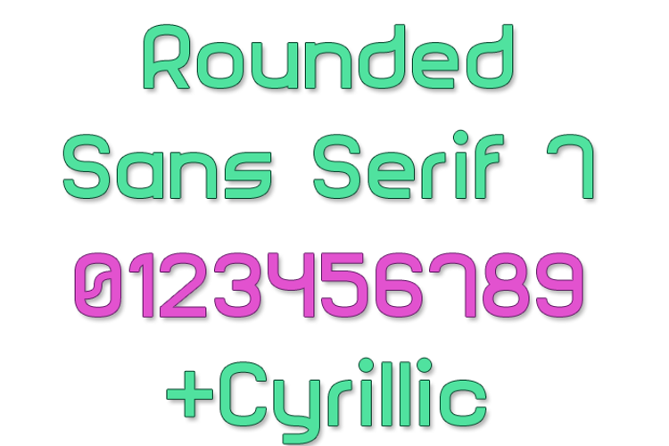 Rounded Sans Serif 7 Font
