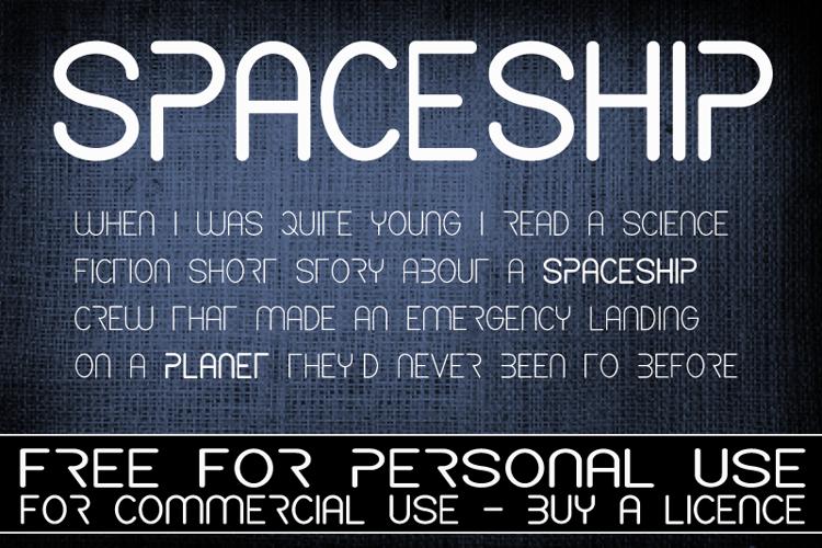 CF Spaceship Font
