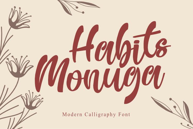 Habits Monuga Font