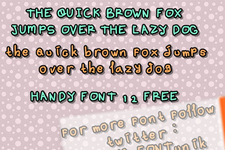 handy font 12 by OUBYC