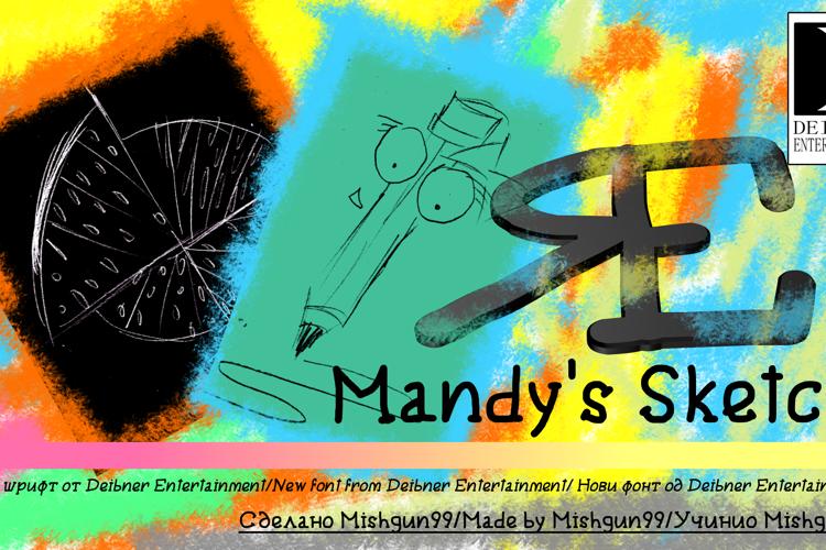 Mandy's Sketch Font