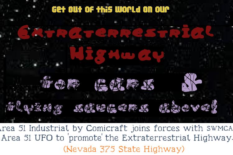 Area 51 UFO Font