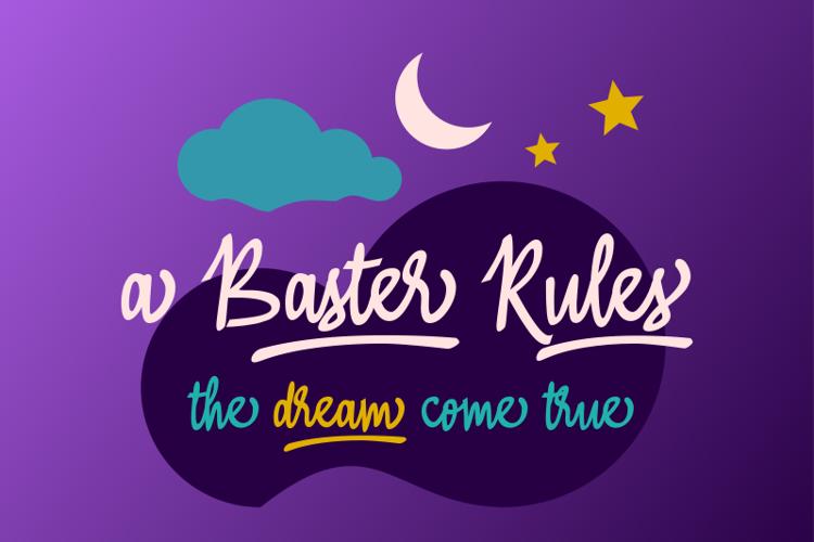 A Baster  Rules Font