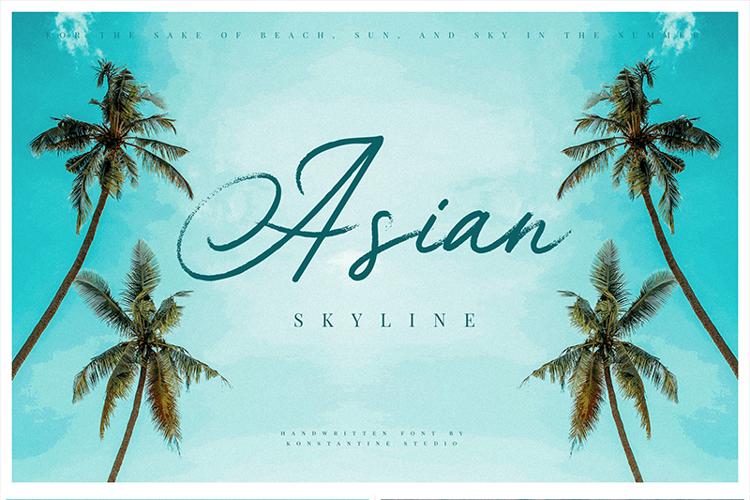 Asian Skyline Font