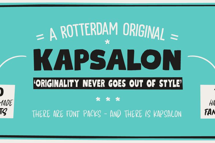Kapsalon Brush Font