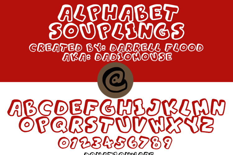 Alphabet Souplings Font