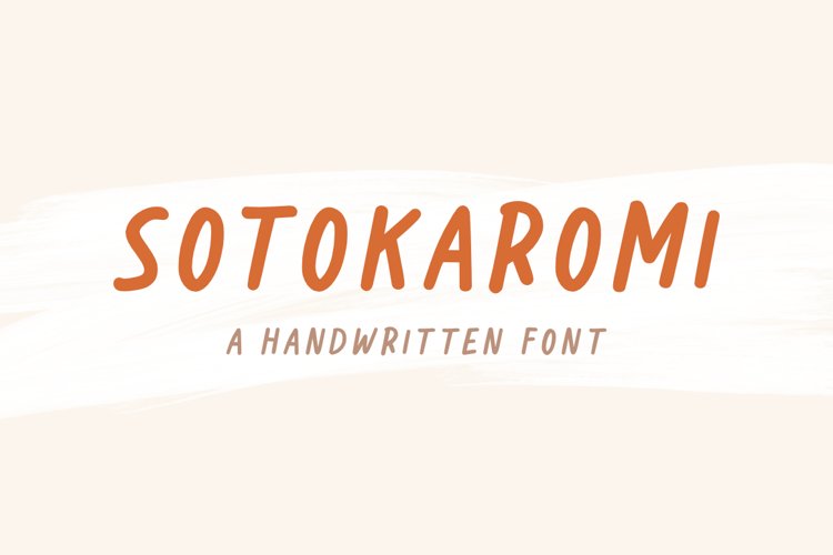 Sotokaromi Bold Font