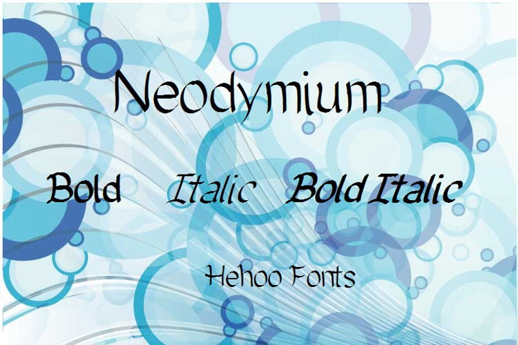 Neodymium Font