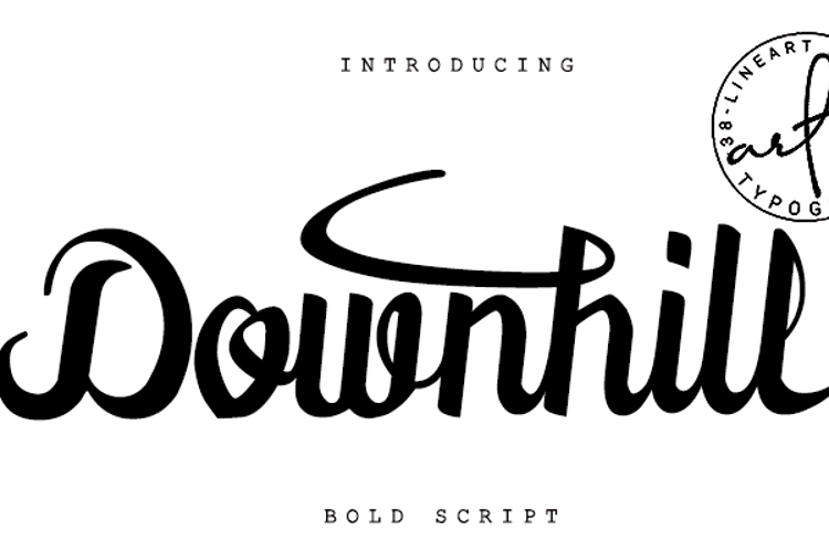 Downhill Font