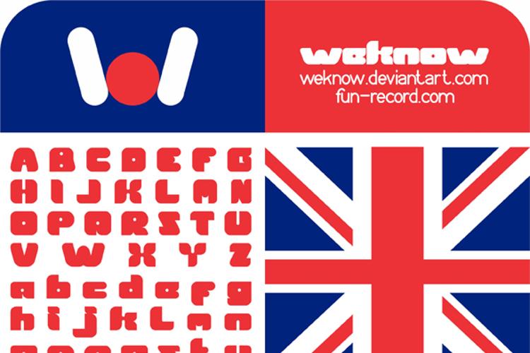 British pop Music Font