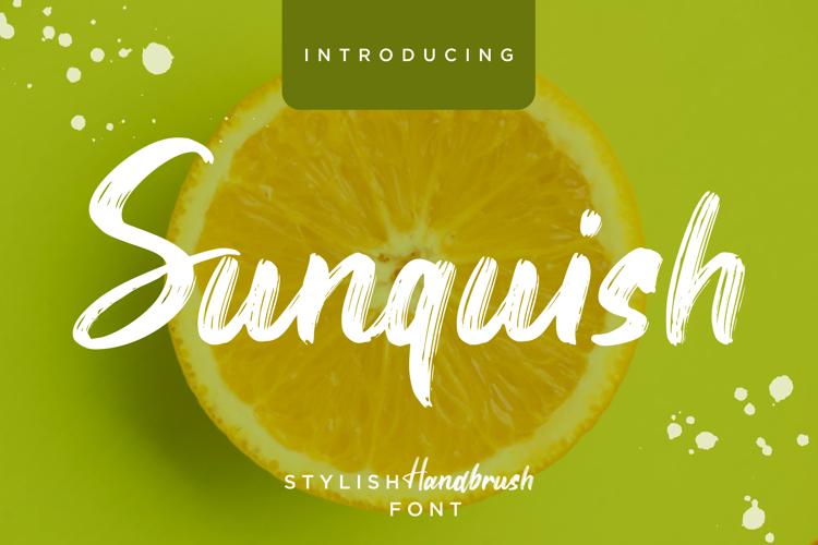 Sunquish Font