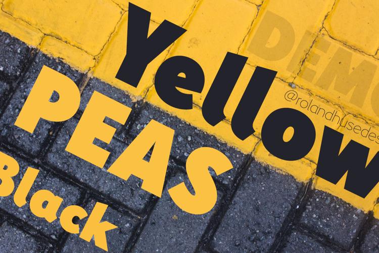 Yellow Peas Demo Black Font