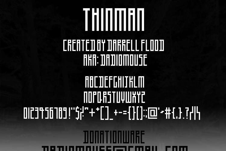 Thinman Font