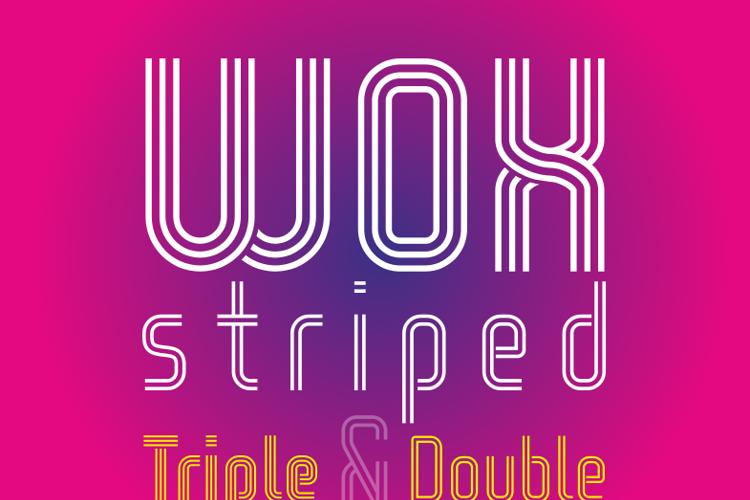 WOX-Striped Triple Demo Font