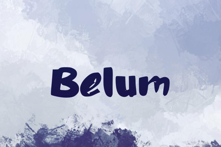 b Belum Font