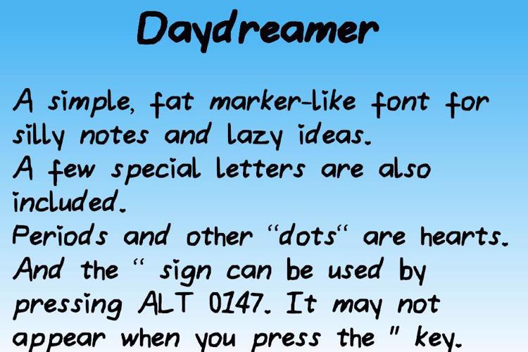 Daydreamer Font