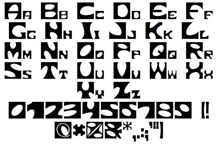 Square circle Font