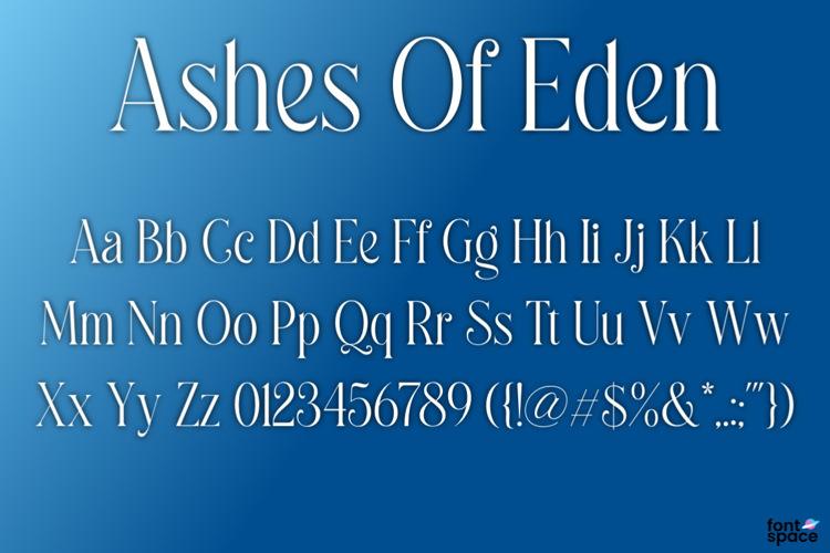 BB Ashes Of Eden Font