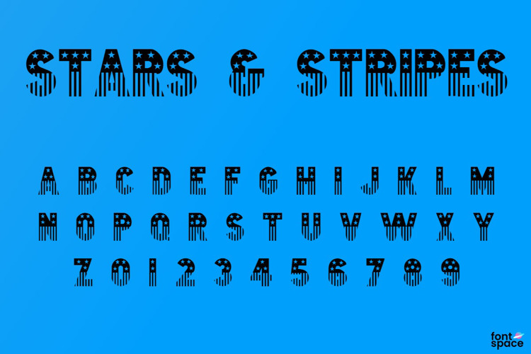 Stars & Stripes Font