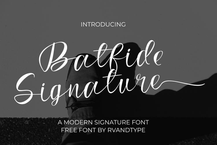 Batfide Signature Font