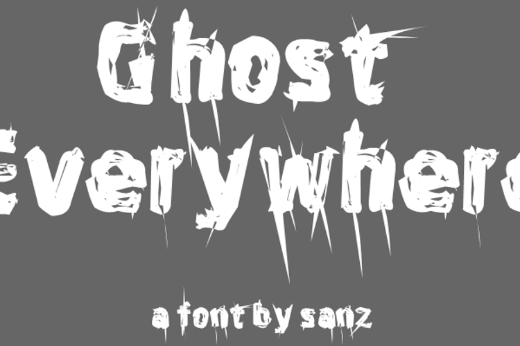 Ghost Everywhere Font