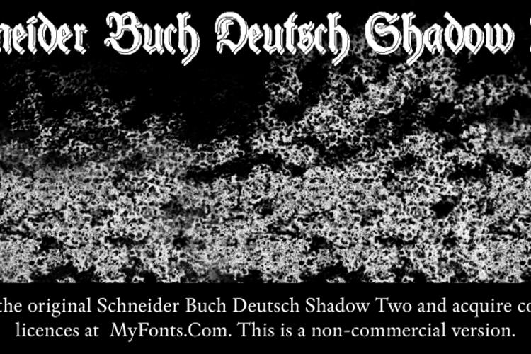 Schneider Buch Deutsch Shadow T Font