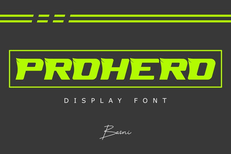 PROHERO Font