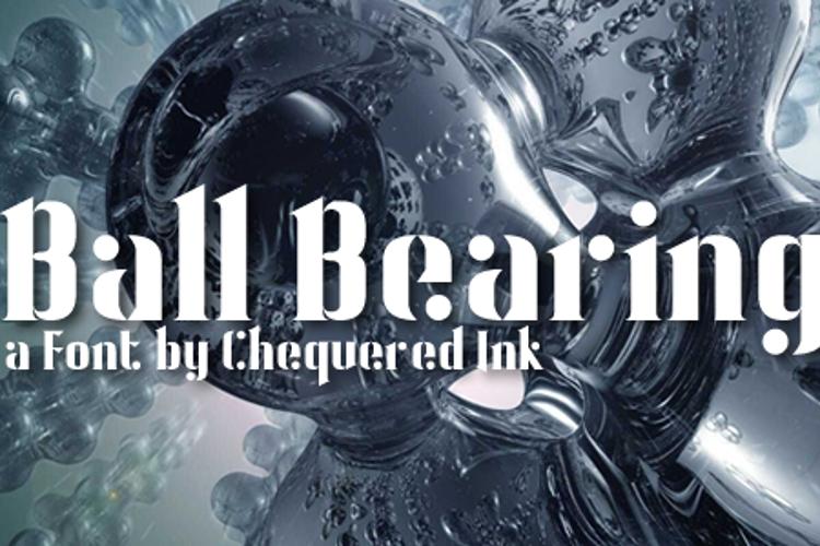 Ball Bearing Font
