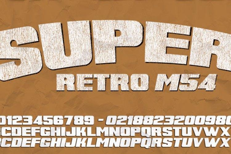 Super Retro M54 Font
