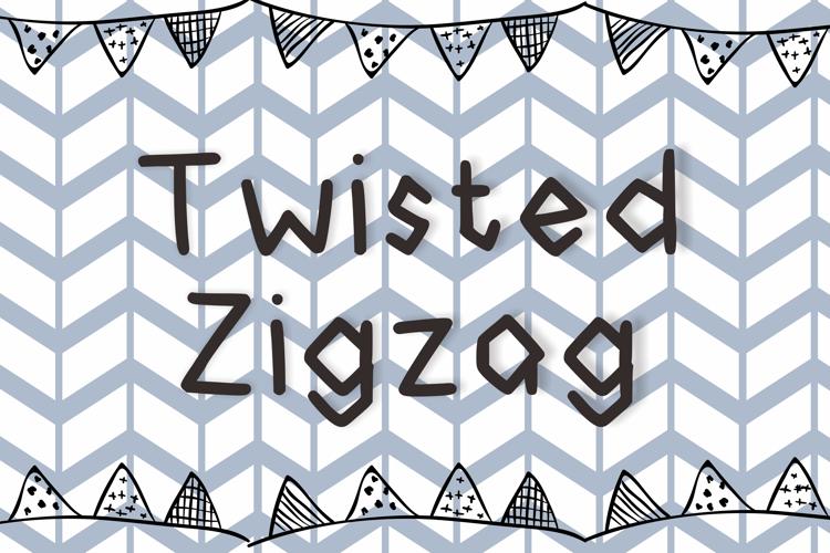 Twisted Zigzag Font