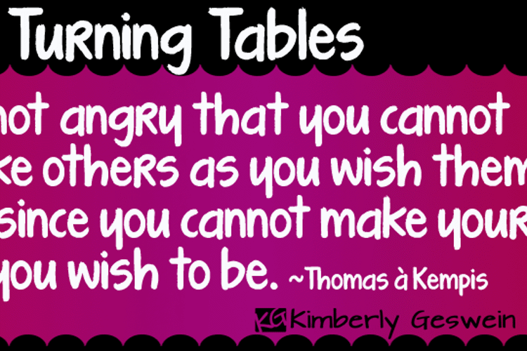 KG Turning Tables Font