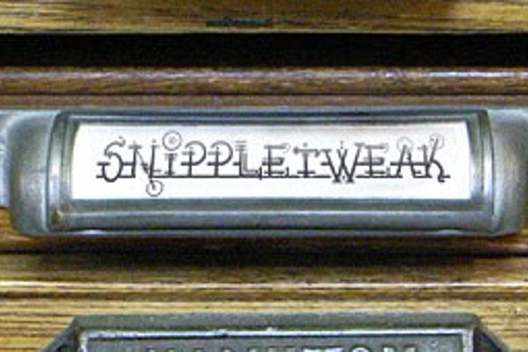 Snippletweak Font