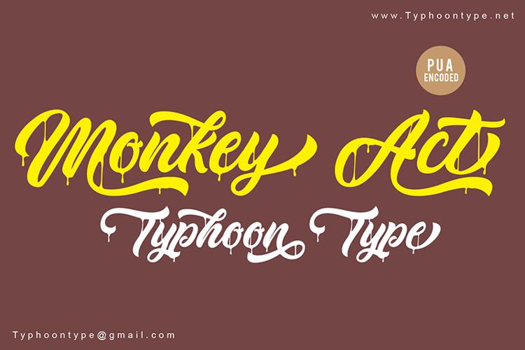 Monkey Act Font