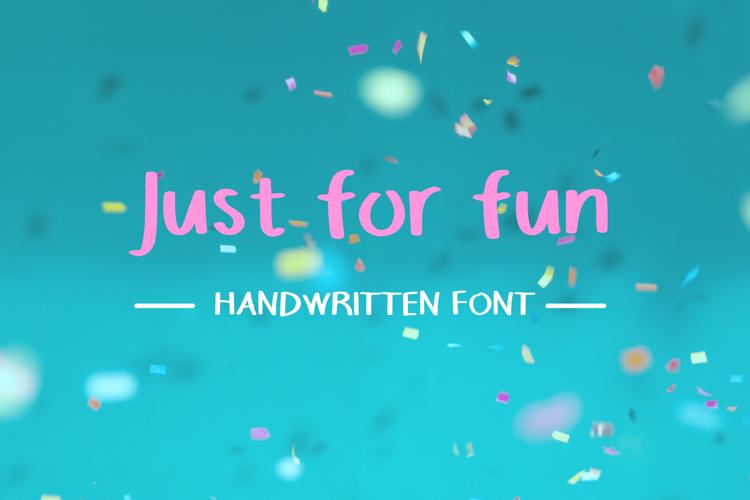 Justforfunfont Font